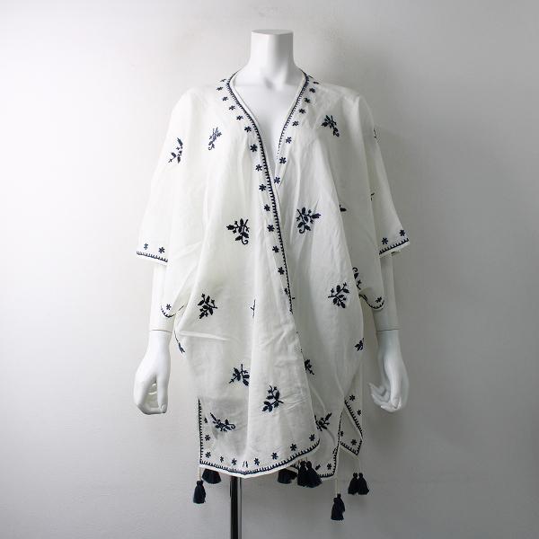 2018SS Deuxieme Classe ドゥーズィエムクラス STAR MELA カーディガン S/刺繍 ポンチョ 羽織り ハオリ -.【2400011793775】