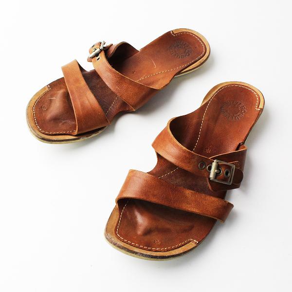 【期間限定30%OFF】BUTTERO ブッテロ ベルト サンダル 37/ブラウン 靴 フラット シューズ【2400011796851】