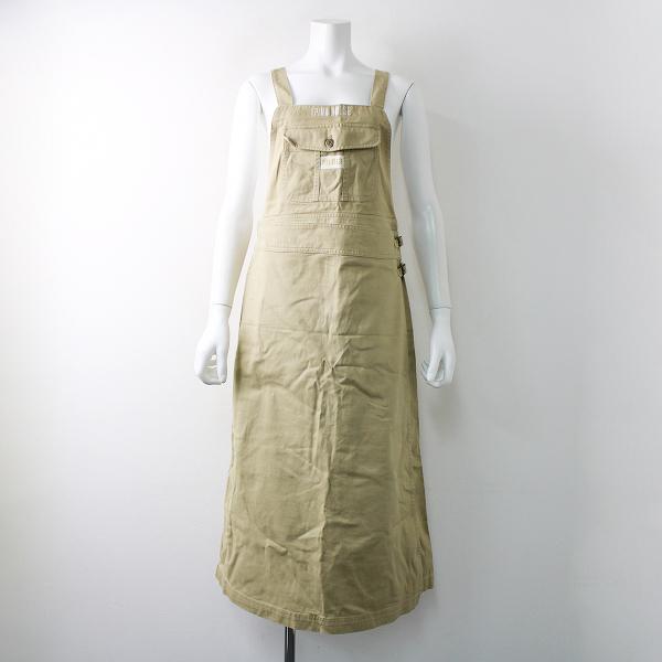 PINK HOUSE ピンクハウス コットン サロペット スカート/ベージュ ジャンパースカート【2400011797544】