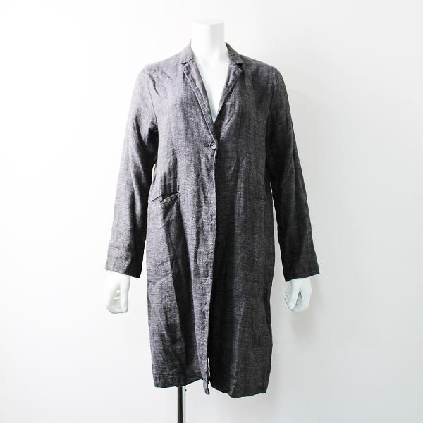 evam eva エヴァムエヴァ リネン tailored collar jacket テーラード カラー ジャケット 2/チャコールグレー アウター【2400011799340】