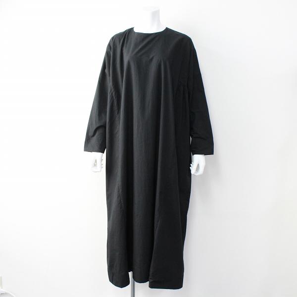 新品 定価7.1万 2019AW ARTS&SCIENCE アーツアンドサイエンス 093L54J066 SG tent line dress long ドレス 1/ブラック【2400011804563】