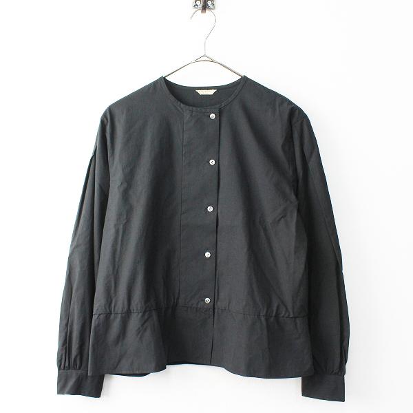 新品 定価5.1万 2018AW ARTS&SCIENCE アーツアンドサイエンス 083L62J060 Back tuck blouse ブラウス 1/ブラック【2400011804709】