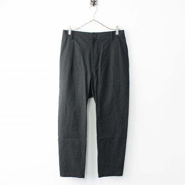新品 定価5.2万 2019SS ARTS&SCIENCE アーツアンドサイエンス 091U313116 Straight mop pants パンツ 2/ブラック【2400011804785】