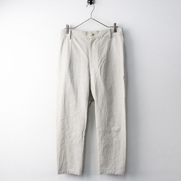 新品 定価5.2万 2019SS ARTS&SCIENCE アーツアンドサイエンス 091U313116 Straight mop pants パンツ 2/ナチュラル【2400011804792】