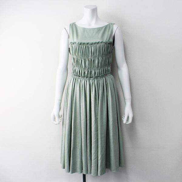 極美品 定価8.5万 2020SS FOXEY NEW YORK フォクシー ニューヨーク 40739 Spring Picnic Dress 38/ミントグリーン ドレス【2400011809674】