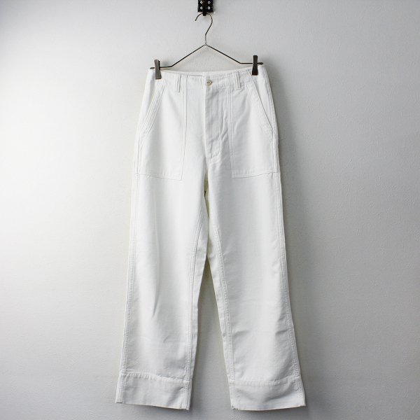 極美品 2020SS今季 MADISONBLUE マディソンブルー コットン FATIGUE PANTS L.BS パンツ 02(M)/ホワイト【2400011811516】