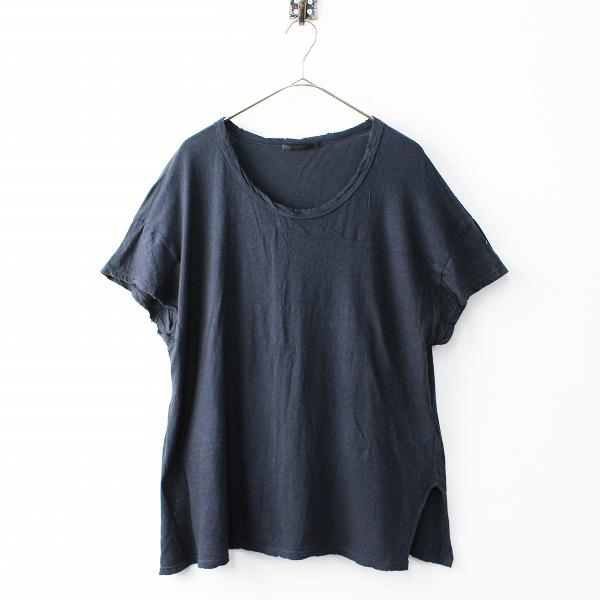 2019SS AP STUDIO Deuxieme Classe ドゥーズィエムクラス ガーゼTシャツ FREE/チャコール カットソー【2400011813596】-.