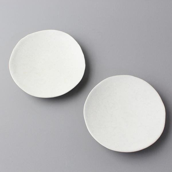 美品 岩田圭介 丸 皿 13cm × 13cm 2枚セット/生成り 食器 陶器【2400011814739】
