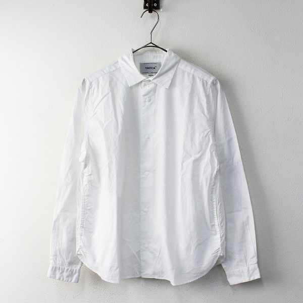 YAECA ヤエカ コットン コンフォートシャツ リラックス M/ホワイト マエアキ ブラウス トップス【2400011814838】