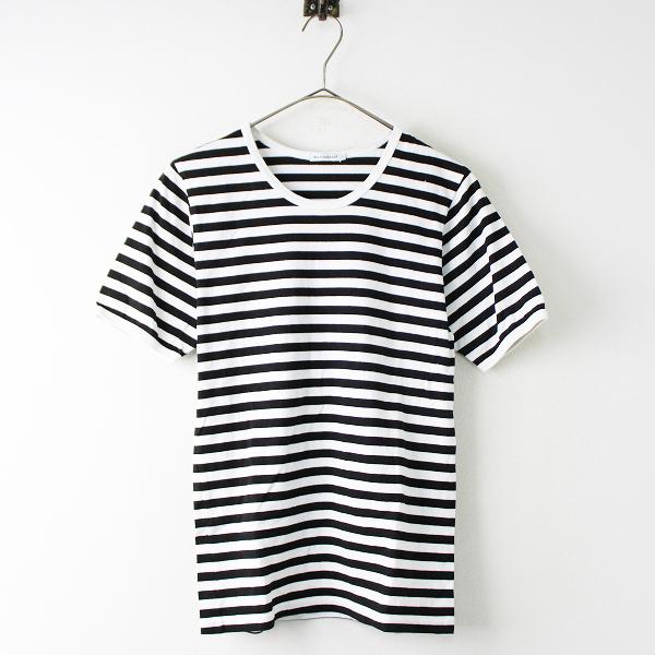 marimekko マリメッコ コットン タサライタ クルーネックTシャツ XS/ホワイト×ブラック プルオーバー トップス【2400011817334】