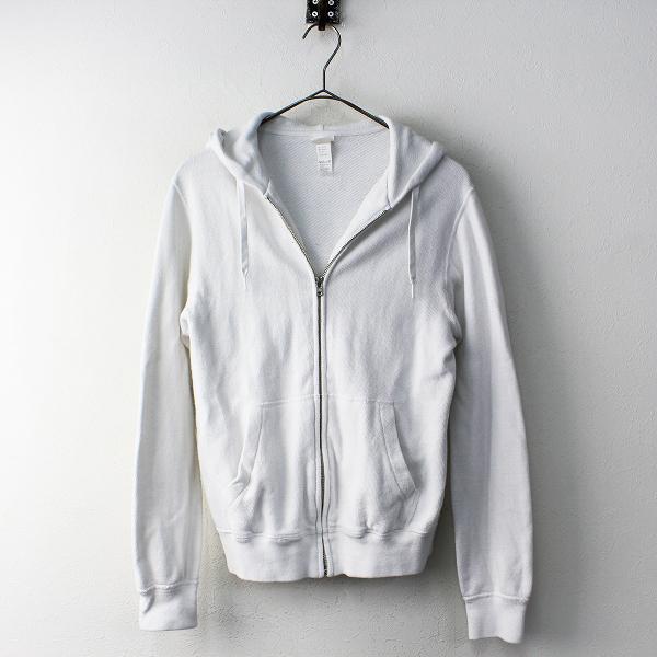 YAECA STOCK ヤエカ 裏毛 ジップアップ パーカー M/ホワイト トップス 上着 羽織り【2400011817631】