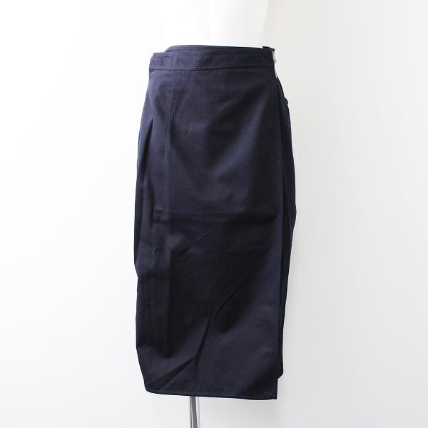 SOFIE D'HOORE ソフィードール コットン ラップ スカート 38/ネイビー【2400011818089】