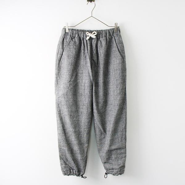 EEL ironari イール イロナリ Skip Pants グレンチェック ウール イージー パンツ r/グレー ボトムス 【2400011819857】