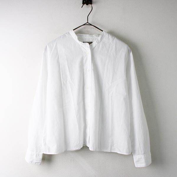 【期間限定20%OFF】2019SS 定価2.9万 MARGARET HOWELL マーガレットハウエル SOFT WASHED COTTON カラーレスシャツ 1/ホワイト 【2400011821911】