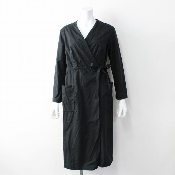 YAECA ヤエカ ワーク カシュクール コート S/ブラック コットン【2400011824493】