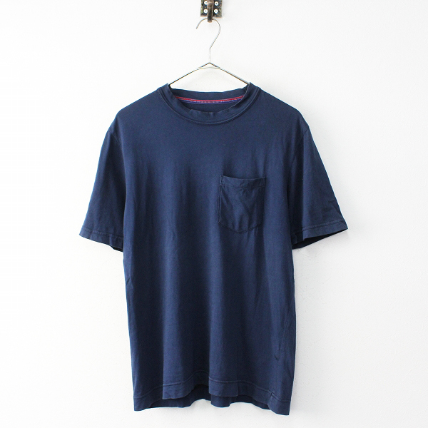 メンズ KATO' カトー コットン クルーネックポケットTEE S/ネイビー プルオーバー カットソー Tシャツ トップス【2400011825216】