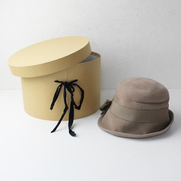 【期間限定20%OFF】GASA ガサ ウール リボン ハット/ブラウン 小物 帽子【2400011825735】