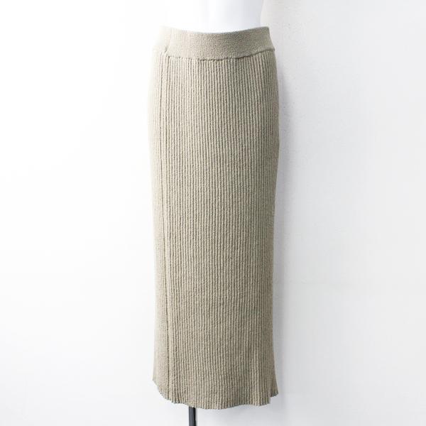 未使用 定価2.8万 2020SS L'Appartement Deuxieme Classe アパルトモン Boucle スカート 36/ベージュ 【2400011827159】-.