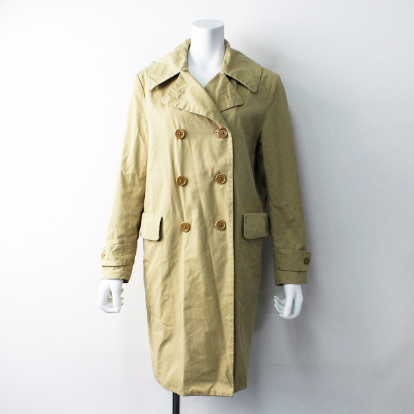 【スプリングセール】YAECA ヤエカ double breasted jacket (khaki) ダブルブレステッドジャケット S/ベージュ ロング アウター ブルゾン【2400011828880】