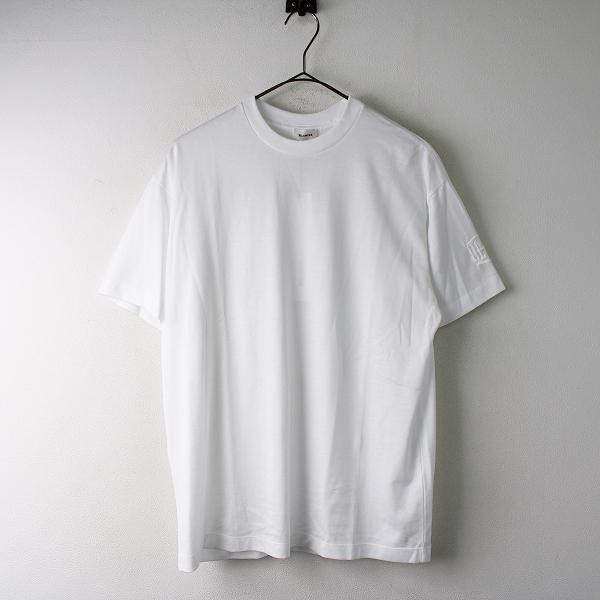 新品 定番 定価2.5万 BLAMINK ブラミンク コットンクルーネック 刺繍ショートスリーブ Tシャツ 1/ホワイト トップス【2400011830609】