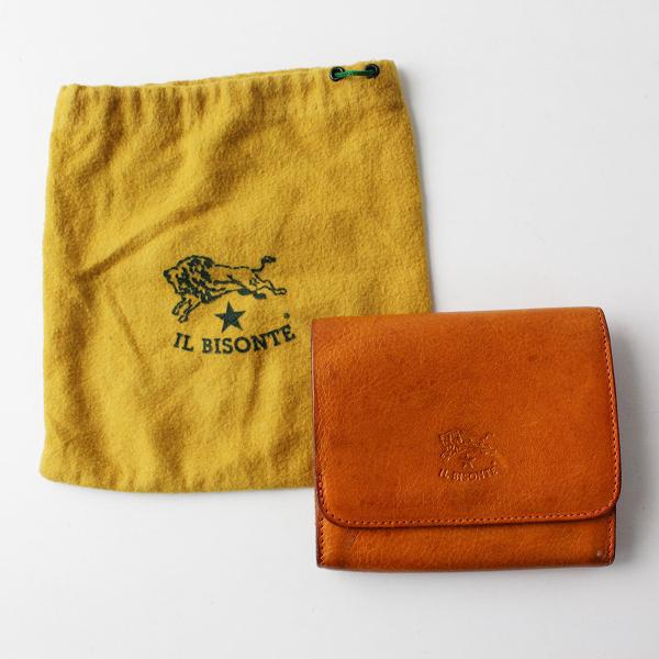 IL BISONTE イルビゾンテ レザー 2つ折り ウォレット/キャメル 財布 ミニ財布【2400011836540】