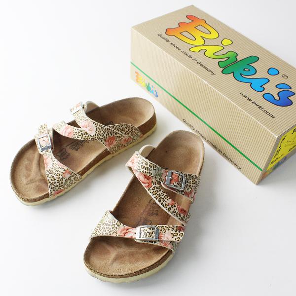 BIRKENSTOCK ビルケンシュトック Birki's Salina サリナ レオパード サンダル 24.0/靴 フラット 花柄 【2400011836687】
