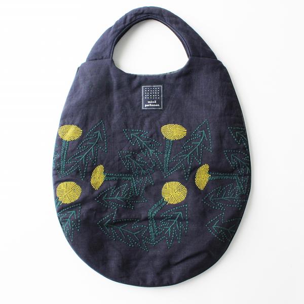 2018SS mina perhonen ミナペルホネン tanpopo 刺繍 エッグバッグ / タンポポ egg bag 手提げ トートバッグ【2400011838063】