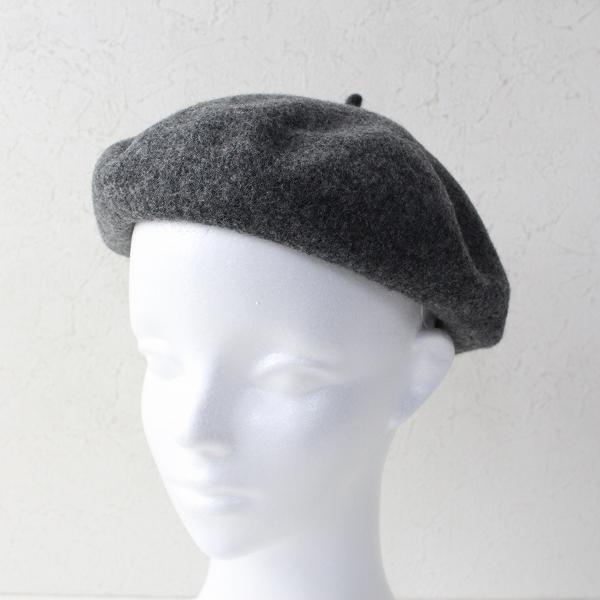 Lin francais d'antan ランフランセダンタン Wool beret ウール ベレー帽 1/グレー 帽子【2400011843524】