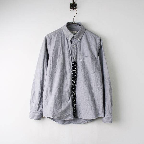 MORIKAGE SHIRT KYOTO モリカゲシャツ キョウト ドットパイピング オックスフォード ボタンダウンシャツ S/グレー【2400011846563】