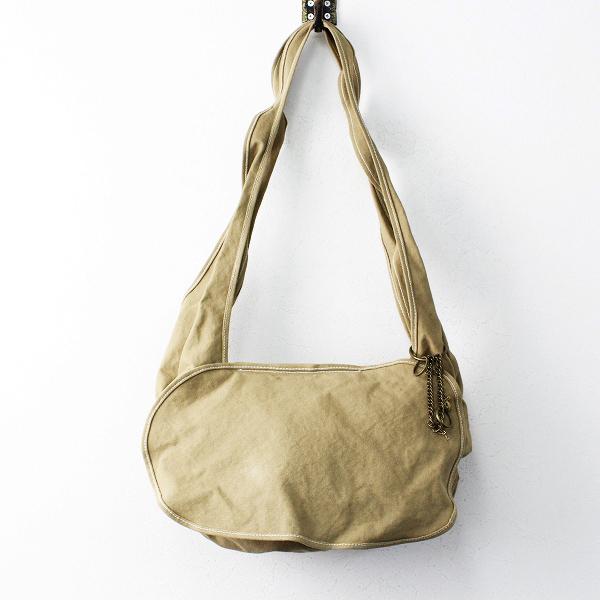 ebagos エバゴス キャンバス ショルダー バッグ /ベージュ 鞄 斜めがけ【2400011847997】