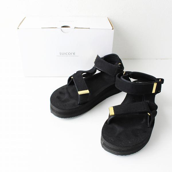 2019AW L'Appartement アパルトモン 別注 SUICOKE Strap Sandal スイコック ストラップサンダル 24cm/ブラック【2400011851529】-.
