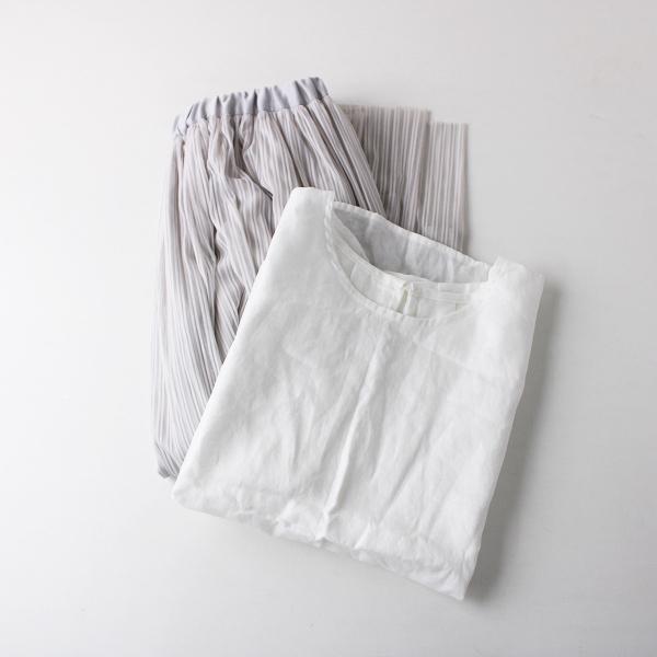 DOUX ARCHIVES ドゥアルシーヴ トップス ボトムス 2点セット /ホワイト グレー シャツ ブラウス スカート まとめ売り【2400011852205】