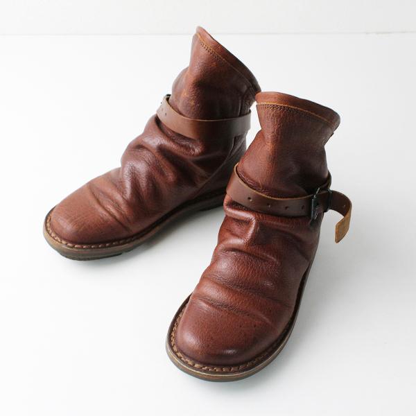 trippen トリッペン BOMB レザー ショート ブーツ 35/ブラウン 靴 シューズ【2400011853325】