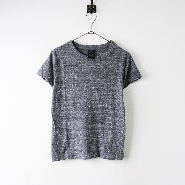 homspun ホームスパン コットン メランジ フレンチスリーブ Tシャツ S/グレー トップス【2400011853790】