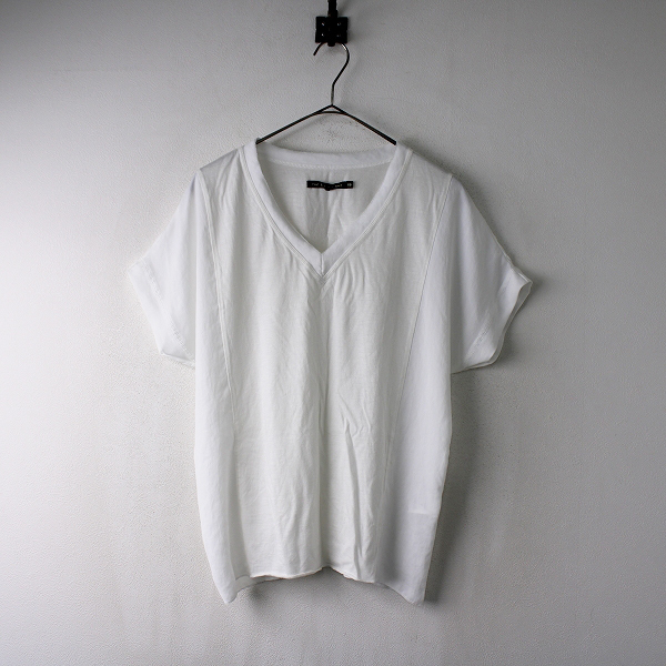 rag&bone ラグアンドボーン 切替 Vネックカットソー XS/ホワイト Tシャツ トップス 【2400011854513】