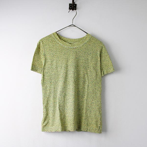 45R フォーティーファイブ 小花柄プリント Tシャツ 3/イエロー 45rpm【2400011855046】