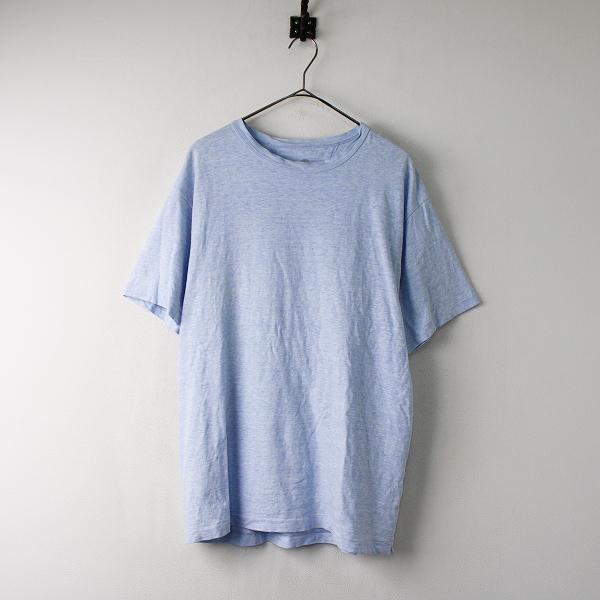 45R フォーティーファイブ コットン クルーネック Tシャツ 4 /ブルー プルオーバー トップス 45rpm【2400011858962】