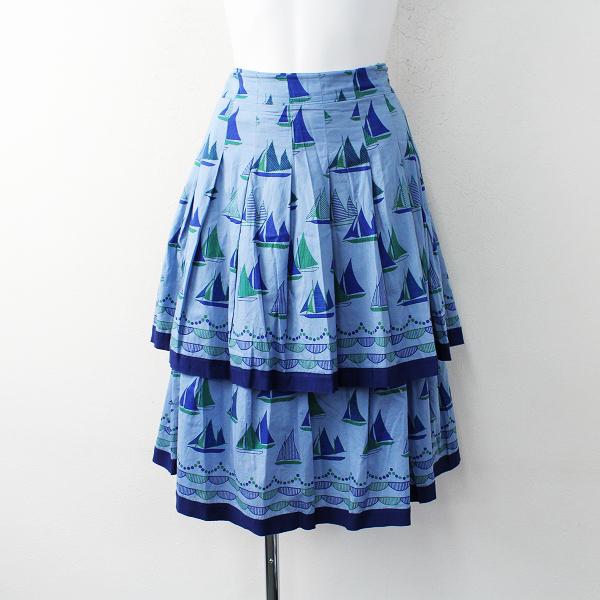 Jane Marple Dans Le Salon ジェーンマープル ドンルサロン ヨットハーバーのヴィンテージティアードスカートM/ブルー【2400011862457】