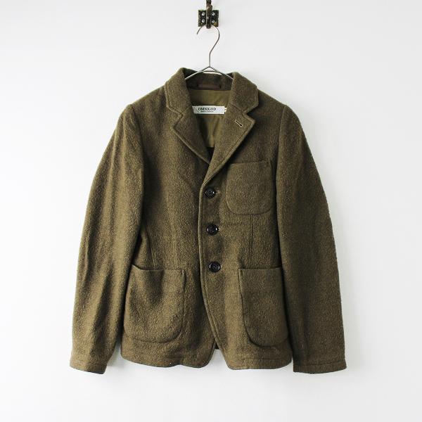 【スプリングセール】OMNIGOD オムニゴッド メルトンウール シングルジャケット 2/カーキ テーラード【2400011864710】