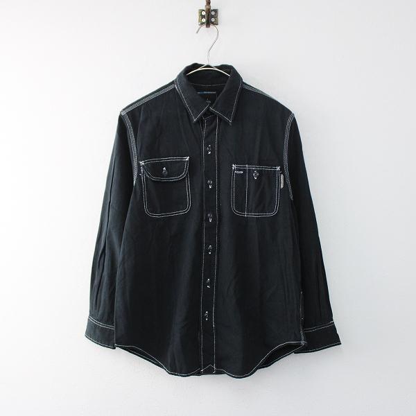 NEIGHBORHOOD ネイバーフッド コットン ワークシャツ S/ブラック メンズ【2400011865625】