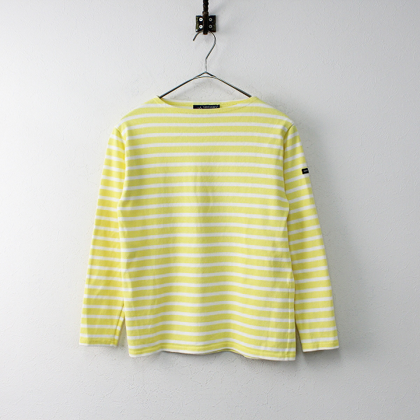 SAINT JAMES セントジェームス コットン ウエッソン バスクシャツ XS/イエロー プルオーバー カットソー トップス【2400011866608】