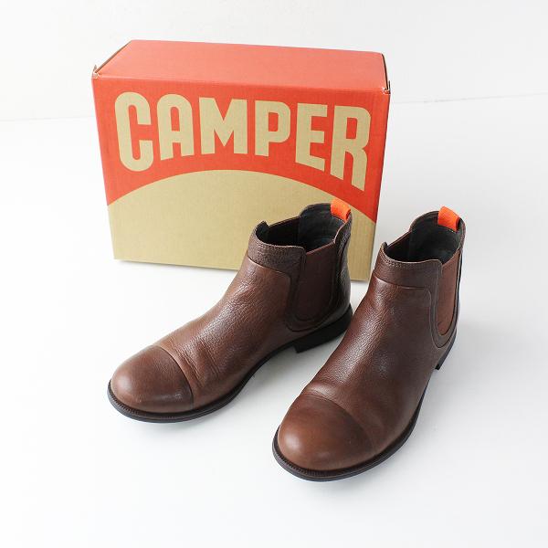 CAMPER カンペール 46727 Mil サイドゴア ショートブーツ 37/ブラウン 靴 ローヒール【2400011869883】