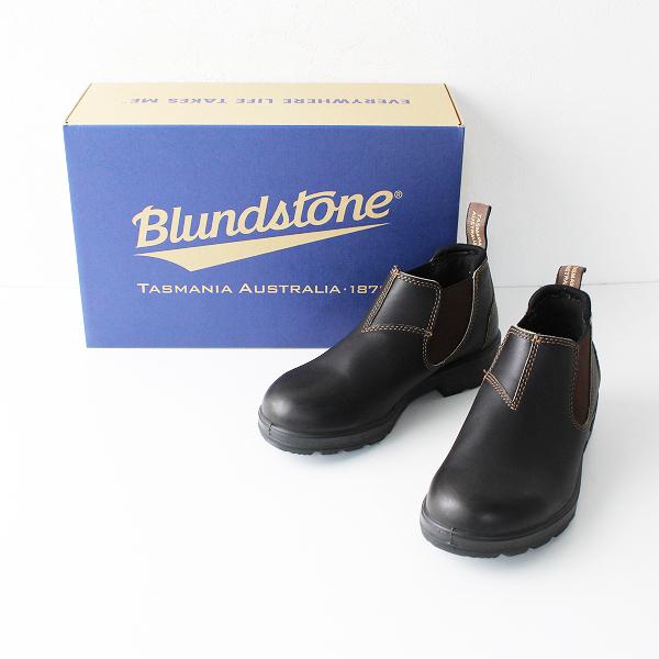 美品 BLUNDSTONE ブランドストーン SLIP ON SHOE スリッポンシューズ 4.0/ブラック 靴 サイドゴア【2400011873057】