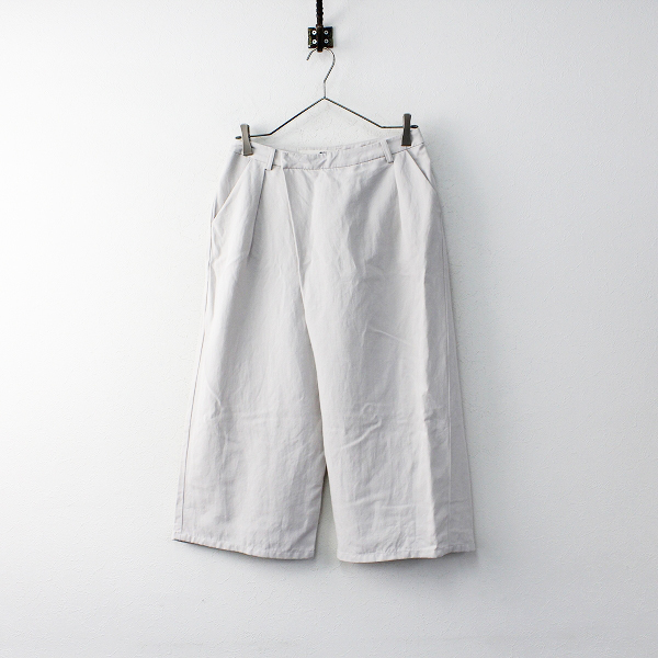 2017SS evam eva エヴァムエヴァ E171T061 cotton linen twill wrap pants コットンリネンツイルラップパンツ1/ボトムス【2400011874030】