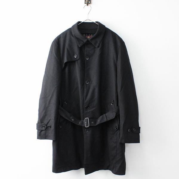 大きいサイズ 美品 TAKEO KIKUCHI タケオキクチ ライナー付き メルトンウールシングルコート メンズ5///ブラック【2400011876959】