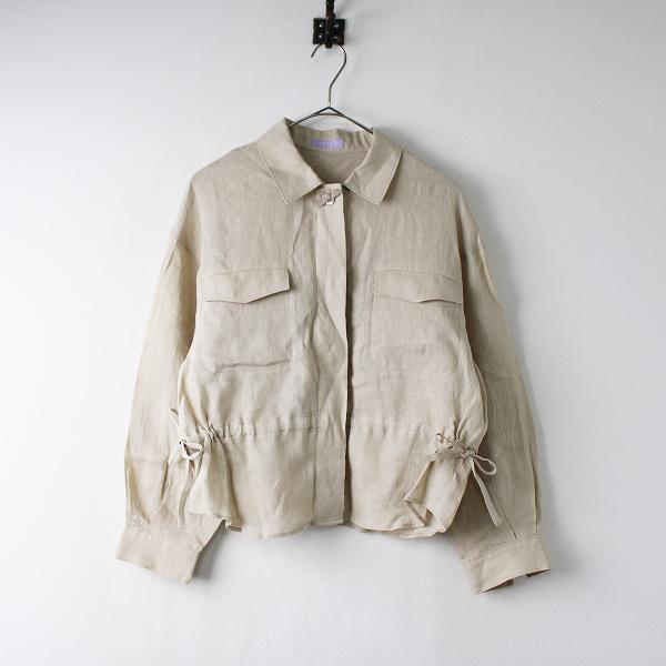 新品 2020SS TOCCA LAVENDER トッカ ラベンダー Linen シャツジャケット FREE/ベージュ リネン 麻 トップス【2400011878670】-.