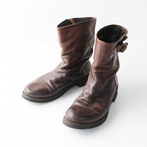 MUKAVA ムカヴァ レザーショートブーツ 24cm/ブラウン【2400011879943】