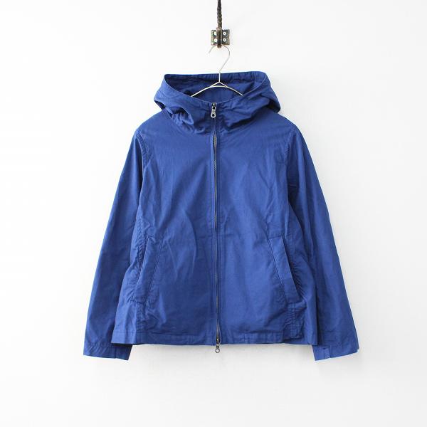 RINEN リネン フード付きコットンジップアップジャケット FREE/ロイヤルブルー アウター ブルゾン【2400011887979】