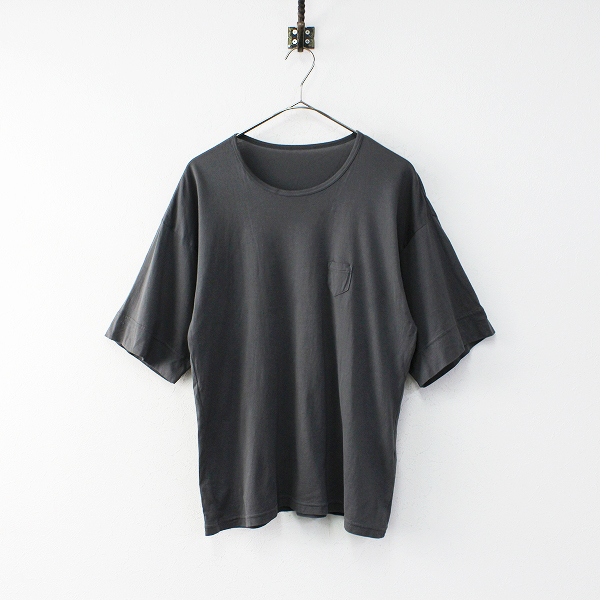 2020SS ゴーシュ 100/2 マイルド天竺・ダイ ハーフスリーブ Tシャツ 2/チャコール トップス 半袖【2400011888532】