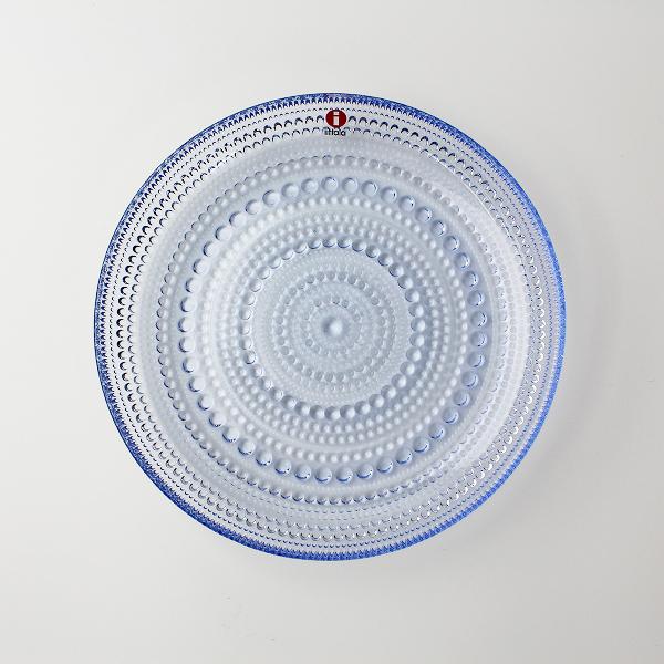 美品 廃盤 iittala イッタラ Kastehelmi カステヘルミ 17cm レインプレート/ブルー系 北欧 食器【2400011889782】
